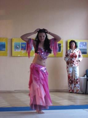 Open class in the exotic dance centre Alegria