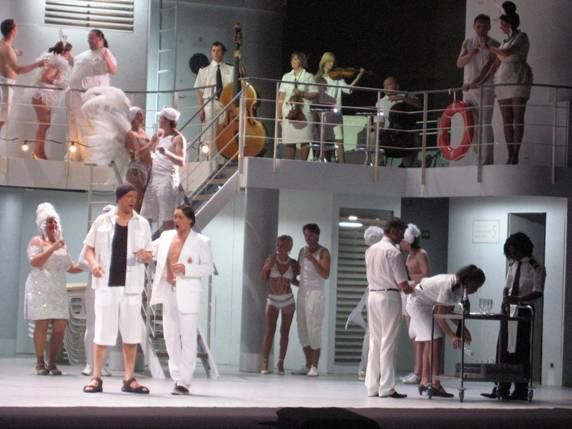 Don Giovanni on a cruise ship deck