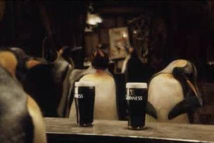 Video advertisements with penguins
