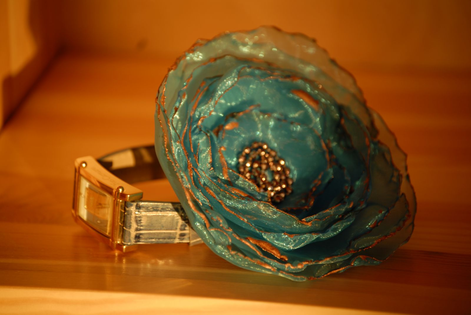 A self-made broach - flower