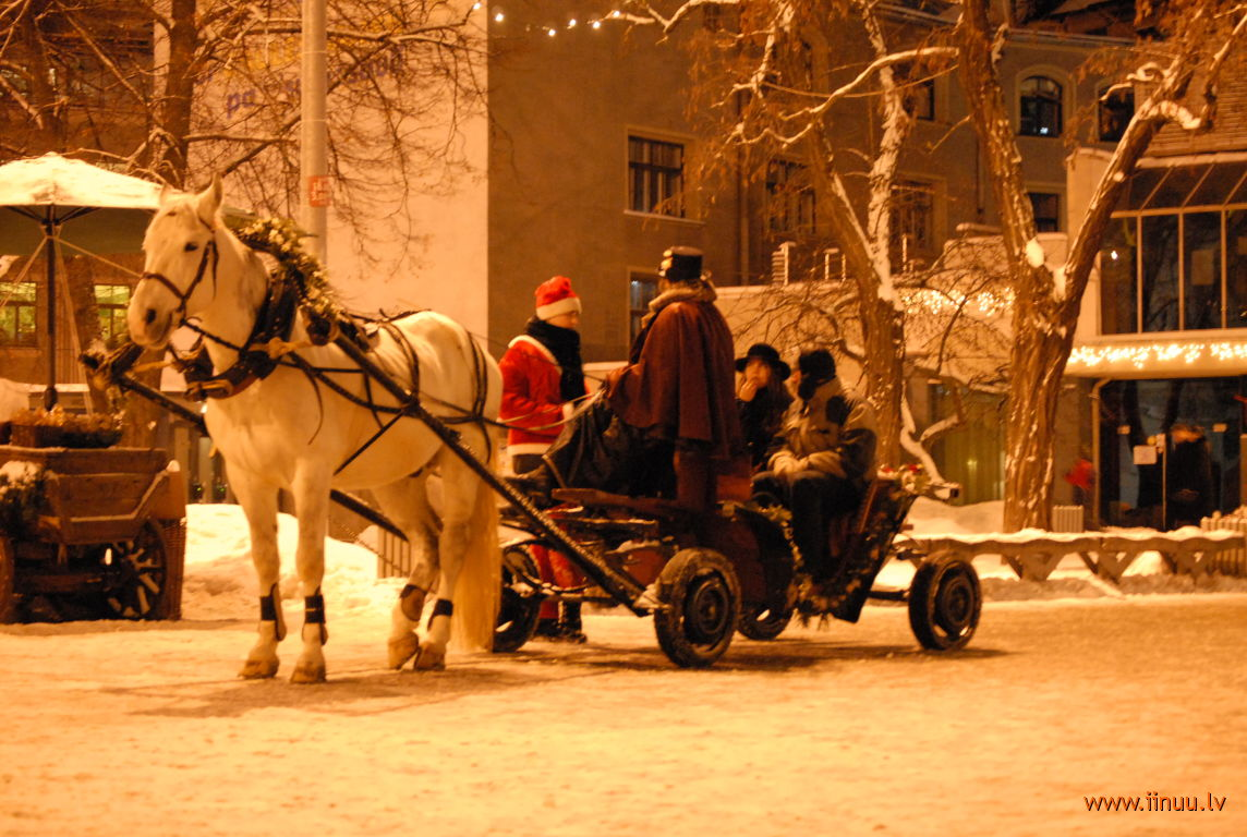 New Year, Old Town, photo, Riga