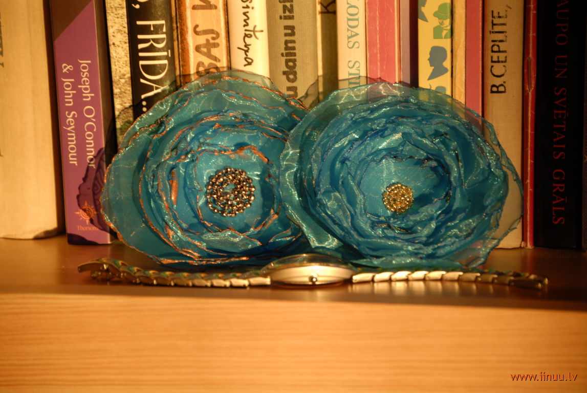 accessory, adornment, broach, fabric, flower, homemade