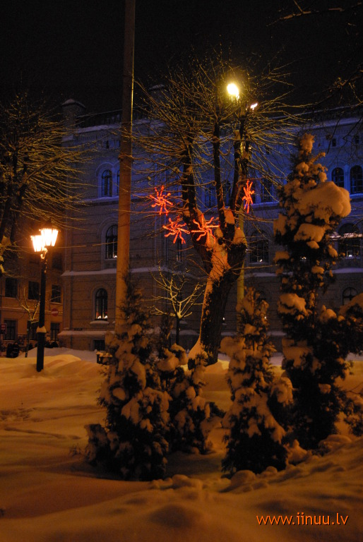 New Year, Old Town, photo, Riga, winter