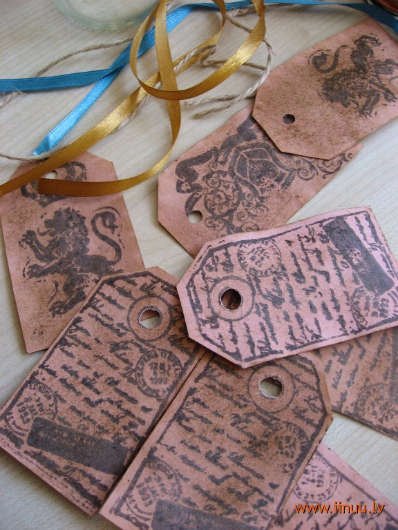 card, gift, handcraft, idea, label, stamp, vintage