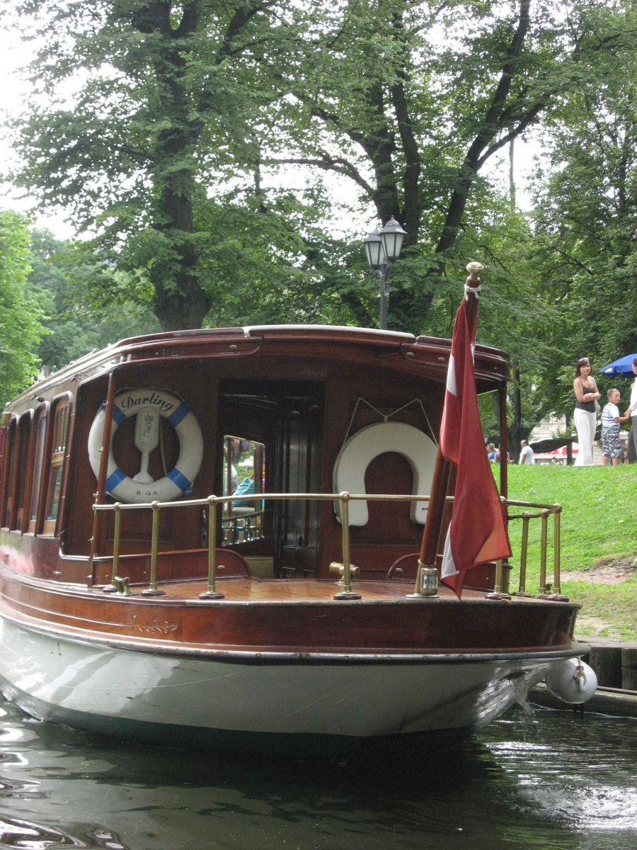Boat trip along the Riga Channel